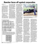 Green Sheet: Aberdeen News republishes HPR feature on corporation v. cowboy in Farm Forum